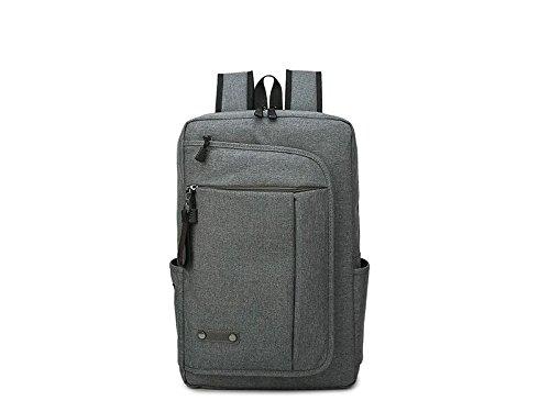 Young shinee Unisex 15,6 Zoll Anti-Diebstahl-Laptop-Computer-Rucksack mit USB-Ladeanschluss für Student Business Mann Frauen-Grau zur Lagerung