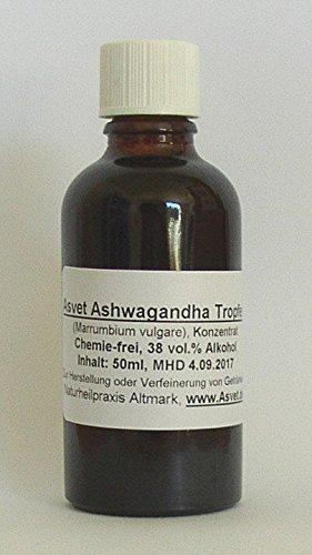 Asvet 100ml Ashwagandha Tropfen, Tinktur, Extrakt, Konzentrat, ohne Chemie !