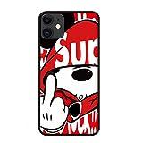 iphone 12 アイフォン ケース ストラップホール 付き おもしろ デザイン 可愛い 人気 オシャレ 韓国 携帯 個性 カバー 浮き彫り 耐衝撃 軽量 薄型 携帯 (12(6.1), Red)