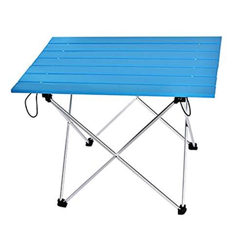 SHUAISHUAI Aleación de Aluminio Mesa portátil Muebles de Exterior Plegable Plegable Camping Escritorio de Senderismo Viajar Muebles de Mesa de Picnic al Aire Libre Fácil de Usar