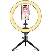 Hieha 10 Inch LED Ring Light with Tripod Stand