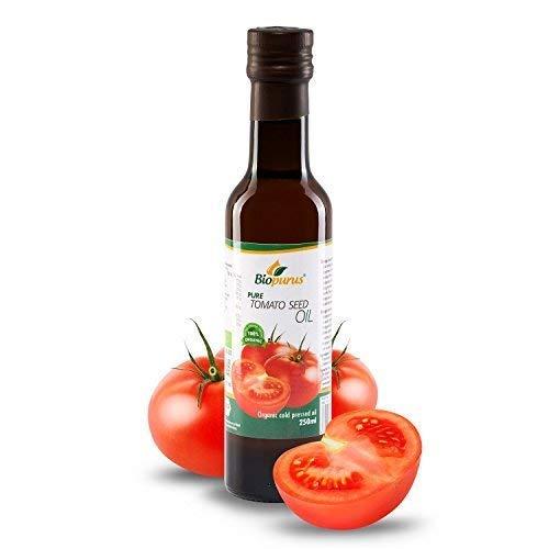 Certificado Orgánico Prensado en Frío Tomate Aceite de Semillas 250ml Biopurus