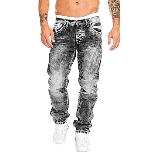 N\P Litthing Biker Jeans para hombre, elásticos, desgastados, para motociclista, para hombre, Hip Hop