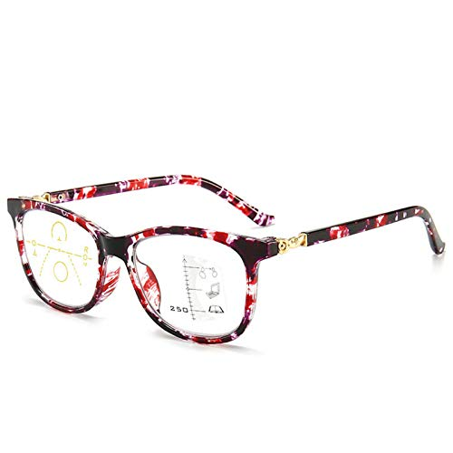 Eyedpe Gafas Ordenador con Bloqueo Luz Azul, Redondas para Hombres Mujeres, Antideslumbramiento, Lentes Antirreflejos Montura Ligera Montura Tortuga Protección UV400 Lentes Transparentes,Rojo,+200
