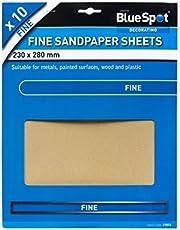 Blue Spot Tools 19851 BlueSpot 10 PCE fina sandpapper, svart, 230 x 280 mm