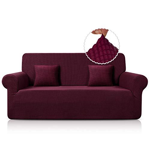 TAOCOCO Sofabezug / Sofabezug, rutschfest, elastisch, waschbar, milbendicht, knitterfrei, rot, 180 x 240 cm