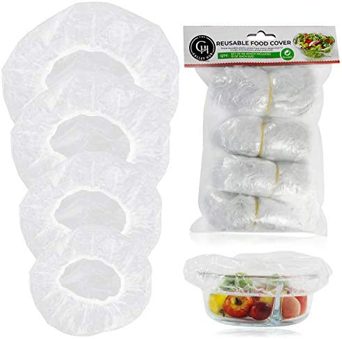 Elastic Food Storage Covers 60 Pieces Reusable Bowl Covers Dish Plate Plastic Covers Fitted product image