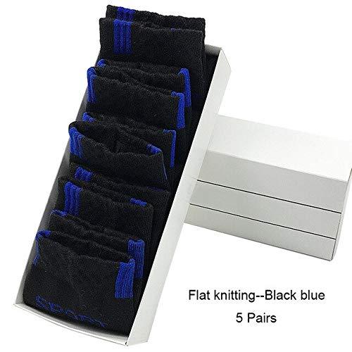 Calcetines de algodón para Hombres Calcetines Deportivos Suaves para Hombres 5 Pares/MuchosCalcetines Deportivos-Blue-EU 39-43