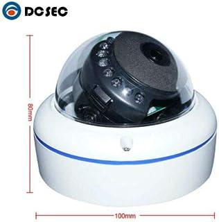 DCSEC 5mp Dome POE IP Security Camera Indoor/Outdoor(Wired, not Wireless), Vandal-Proof, 360° Fisheye Panoramic View, IP66...
