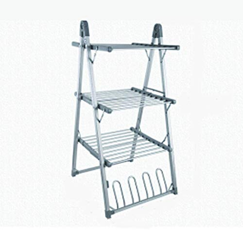 Electric Clothes Airer Dryer Electric Heated Clothes Dryer,3 Tier Dryer Rack +Drying Shoe Rack, 300W Intelligent Constant Temperature, Foldable  Nevada