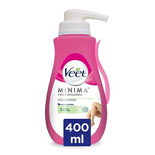 Veet Crema Depilatoria Corporal para Mujer, Con Dosificador, Piel Normal y Seca, 400 ml