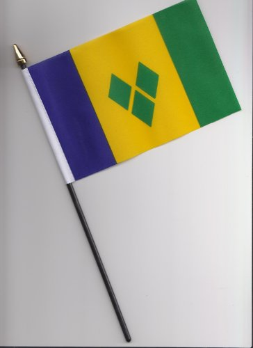 1000 Flags St Vincent et Grenadines Drapeau à la Main 25 cm