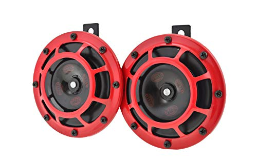 top rated HELLA 003399801 Super Tone 12V High / Low Frequency Set, 2 Horns, Red Protective Grill, 2… 2020
