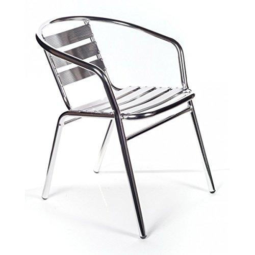 San Marco smdc101x4-4 sedie Alluminio impilabili per Bar da Interno o Esterno