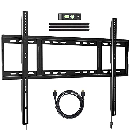 """Fixed TV Mount Bracket for Most 42-100"""" Extra Large TVs, Low Profile TV Wall Mount Bracket Fits 16-24"""" Wood Studs, Max VESA 800x600mm Holds up to 264lbs, Quick Release Lock Design"""