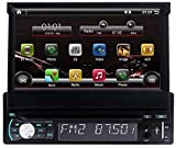 EinCar Single 1 Din DVD Player GPS Navigation Radio in Dash 7 inch Capacitive Touch Screen Bluetooth Stereo FM/AM Radio Tuner with Android 10.0 Quad Core Support RDS Phone Mirror Link Camera-Input