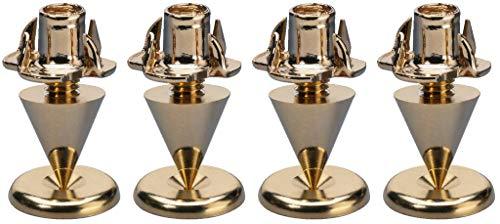 Monacor Spikes-Set für Lautsprecher, Slim, 4Stück, goldfarben