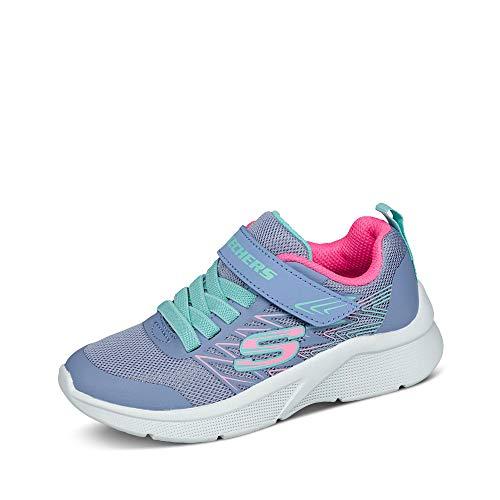 Skechers Girls Microspec Bold Delight Sneakers Kinder Schuhe Lila, Schuhgröße:31 EU