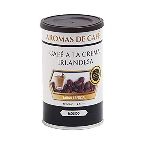 Café Molido 100% Arábica | Café Tostado de Crema Irlandesa | 100 gr | Intensidad Suave | Café Molido Natural Ligeramente Tostado | Aroma Suave, Sabor Dulce y Cremoso