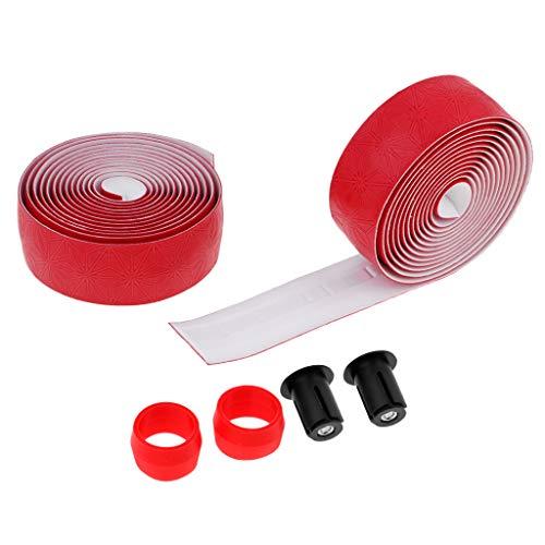 Toygogo - Cinta Adhesiva para Manillar de Bicicleta (2 Unidades), Rojo