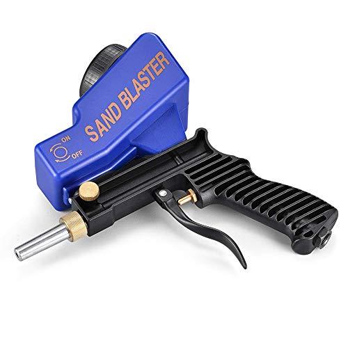 Doolland Portable Abrasive Air Sand Blaster Handheld Gun Gravity...