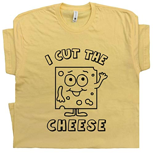 M - I Cut The Cheese T Shirts Funny Fart Joke Loading Offensive Juvenile Humor Who Farted One Just Novelty Tee Yellow