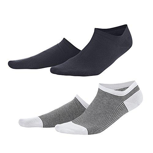 Living Crafts Sneaker-Socken, 2er-Pack 35-38, navy/white