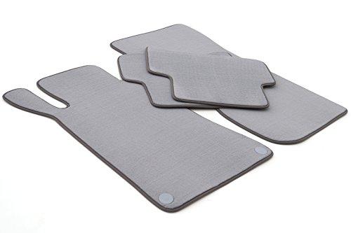 Tapis de sol pour mercedes classe c w203 s203 original qualité velours gris 4 pièces
