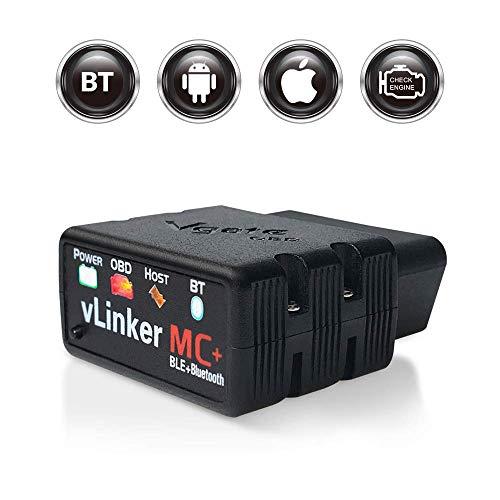 TONWON Vgate vLinker MC+ OBDII Bluetooth Escáner de diagnóstico OBD2 para iOS,...
