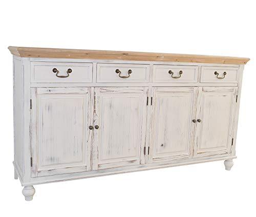 Kommode Tondern XL Holz Vintage Look weiß