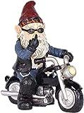 Gartenzwerg Motorrad Zwerge für den Garten, Gartendeko Zwerg, Dekoration für die Terasse, Deko für den Balkon
