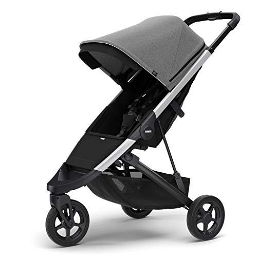 Thule Spring Stroller, Grey Melange with Silver Frame, One Size