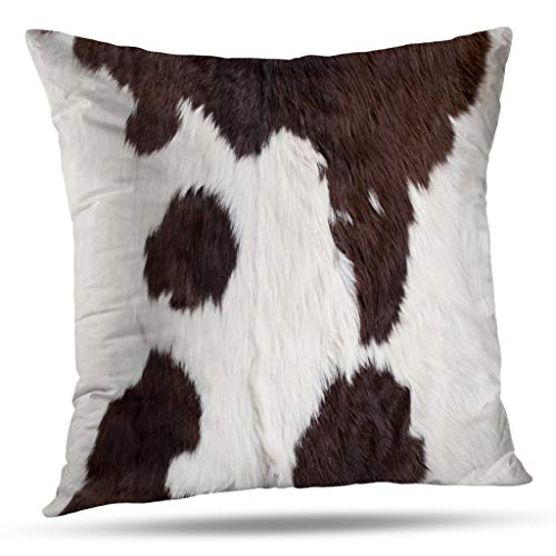 Pakaku Decorative Pillows Case Throw Pillows Covers for Couch Indoor Bed 16 x 16 Inch,Cow Skin Cow Skin Abstract Africa Animal Black Home Sofa Cushion Cover Pillowcase Gift Bed Car Living Home