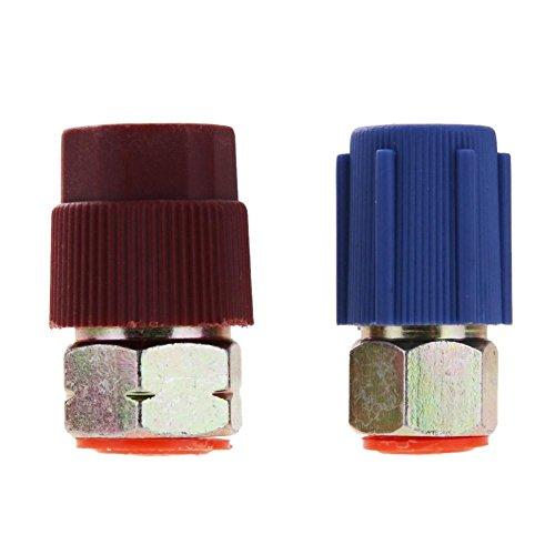 everpert Retrofit 7/16A 3/8adaptador de conversión R12a R134a Alta/Baja AC)