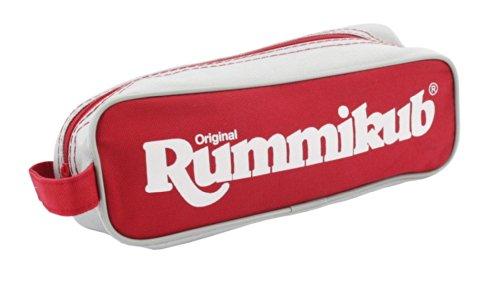 Jumbo Spiele Original Rummikub Travel Pouch - der Spieleklassiker mit kleiner Tasche für Reisen und zum Mitnehmen - Gesellschaftsspiel für Erwachsene und Kinder ab 7 Jahren - 2 bis 4 Spieler