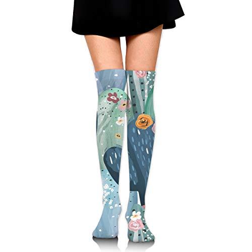 Hermoso y suave viejo cactus calcetines casuales hombres y mujeres caliente grueso rendimiento deporte compresión calcetines