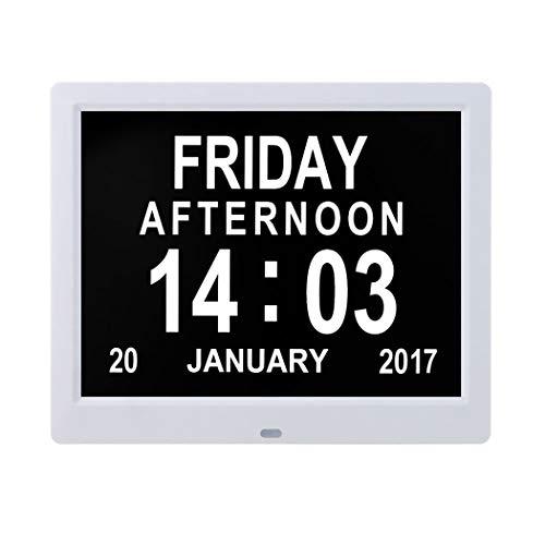 Cweu-home digitale kalender, dagklok, 8,7