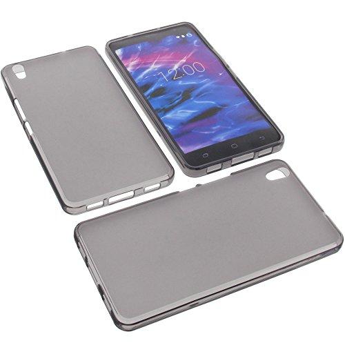 foto-kontor Tasche für MEDION Life S5504 Gummi TPU Schutz Handytasche grau