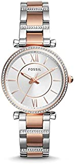 Fossil Women's White Dial Stainless Steel Band Watch - ES4342