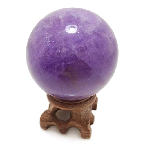 Decoration Polar Jade Rose Quartz Crystal Sphere 45mm//1.8 Diameter for Scrying Hand-Made Healing Meditation Feng Shui