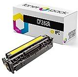 TONERPACK® HP 312A CF382A Cartucho de Tóner Compatible para HP Color Laserjet Pro M476nw M476dn M476dw (Amarillo)