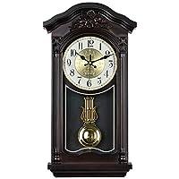 WEM 壁掛け時計ヨーロッパのレトロな電池式サイレント非カチカチ振り子の装飾寝室のリビングルームの装飾クリエイティブクォーツ時計