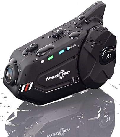 Motorcycle Helmet Headset FreedConn R1plus Bluetooth Intercom with 1080P Camera FM Radio 1000M product image