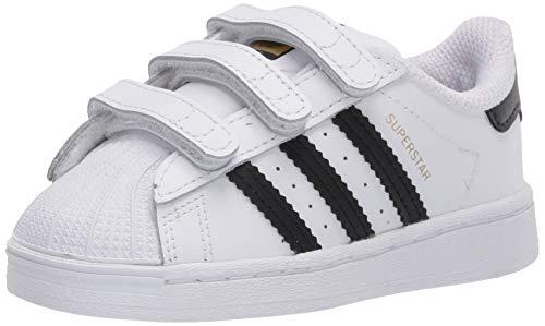 adidas Originals Kids Superstar Sneaker, White/Black/White, 6.5 US Unisex Toddler
