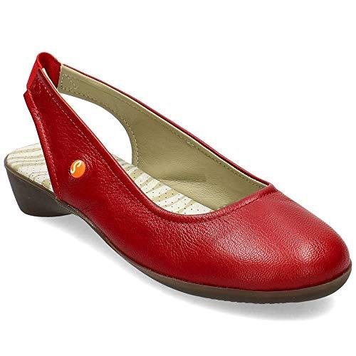 Softinos Damen Giny581Sof Slingback Sandalen, Rot (Lipstick RED 002), 41 EU
