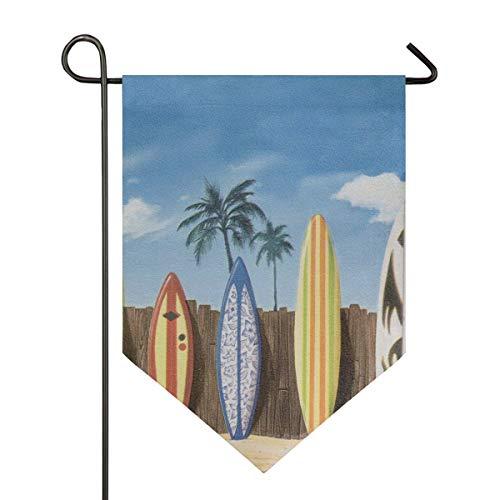 MONTOJ Strandfahne, bunt, Surfbrett, für Zuhause, Garten, vertikal, doppelseitig, Polyester, 1, 28x40in