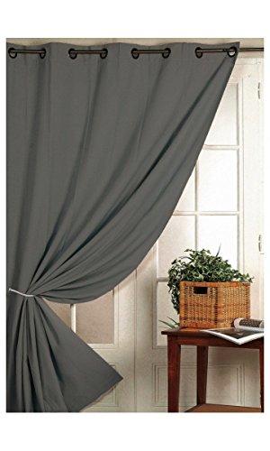 Homemaison - Tenda oscurante con funzione ignifiuga, classe M1, colore grigio