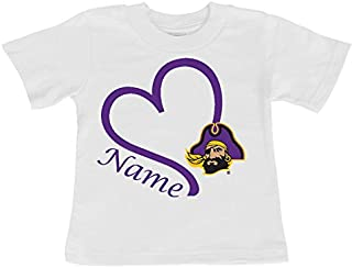 East Carolina Pirates Personalized Heart Baby/Toddler T-Shirt