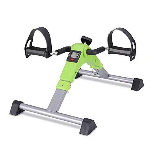 TIEHH Ejercitador de Pedal Ajustable portátil para Brazo, piernas, Aptitud física Interior Entrenamiento de rehabilitación de Bicicletas Máquina de Fisioterapia para Ancianos