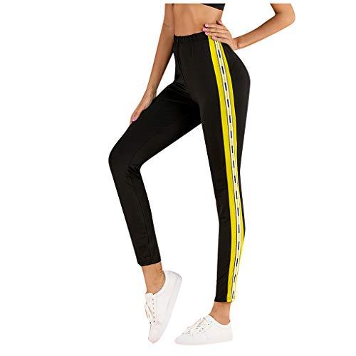 RISTHY Mallas Leggins Mujer Fitness Tallas Grandes Pantalones Largos Deporte Cintura Alta Encaje Correr Yoga Deportivo Pilates Delgazada Deportivos El/ásticos Pantalones para Dormir